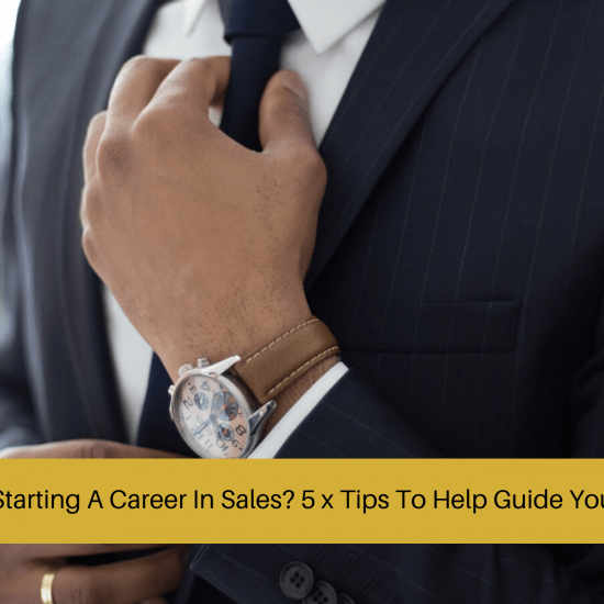 starting a career in sales