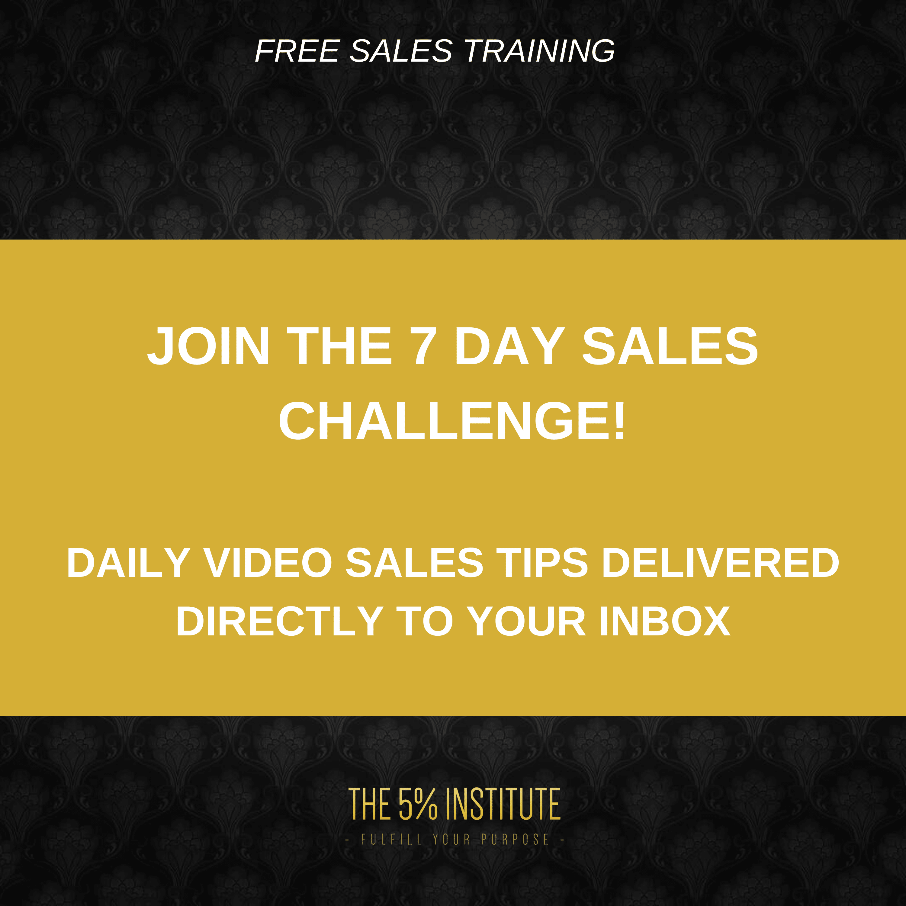 FREE SALES TRAINING