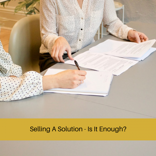 selling a solution