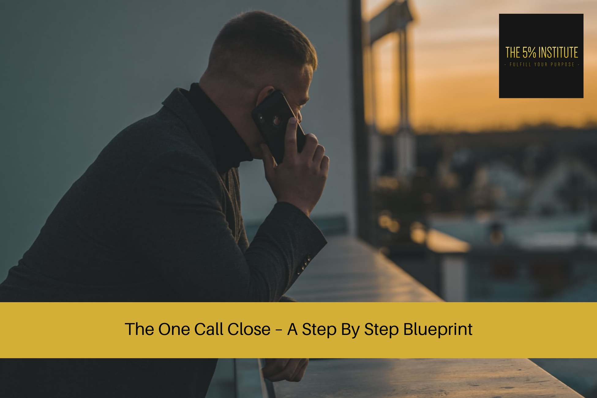 one call close sales training